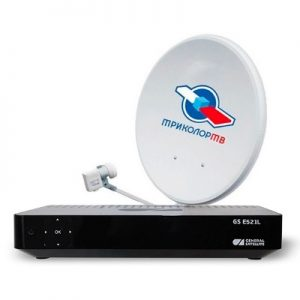 Комплект Триколор ТВ с ресивером General Satellite GS Е521L Full HD